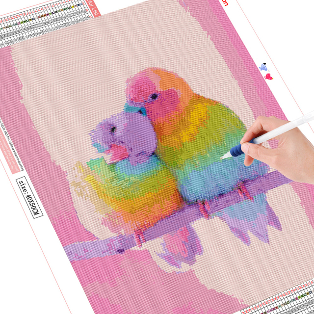 HUACAN 5D Diamond Painting Parrot Animal Home Decoration Full Square Drill Embroidery Bird Rhinestone Picture Handcraft