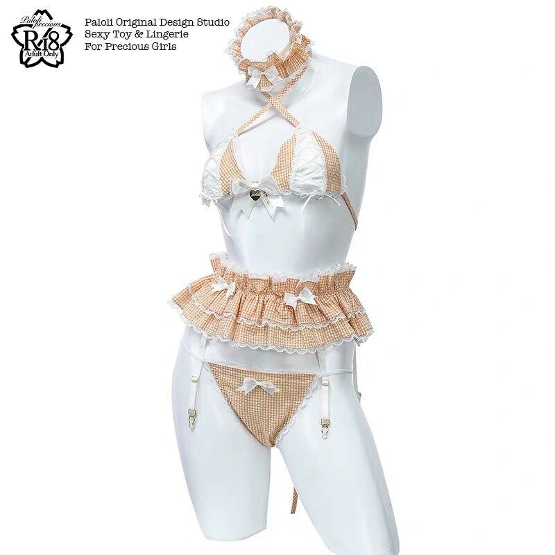 Womens Sexy Costume Lolita Cute Maid Uniform Kawaii Anime Bikini Set Temptation Erotic Underwear Costume Cosplay 2