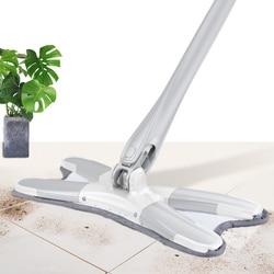 Congis pranie ręczne płaski mopy podłogowe ręcznie X typu mop z mikrofibry klocki wymienić do czyszczenia domu do czyszczenia kuchni narzędzia w Mopy od Dom i ogród na