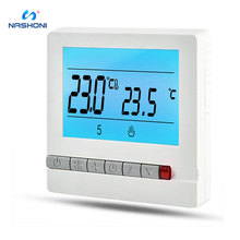 Nashone Thermostat Temperature Controller 220V 16A LCD Programmable Floor Heating Room Thermostat Room Temperature Controller 16a touch screen lcd programmable thermostat temperature controller regulator room lcd floor heating thermostat with backlight