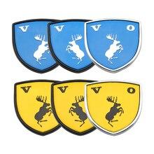 ملصق سيارة معدني مع شعار لـ Volvo ، Ocean V40 ، V60 ، V90 ، XC60 ، XC90 ، XC40 ، S60 ، S90 ، S80 ، C30 ، ملحقات السيارة