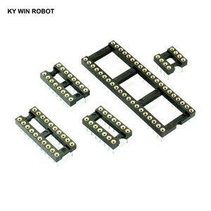 5pcs IC Sockets 2.54MM Round Hole DIP6 DIP8 DIP14 DIP16 DIP18 DIP20 DIP28 DIP40 pins Connector DIP 6 8 14 16 18 20 24 28 40 PIN