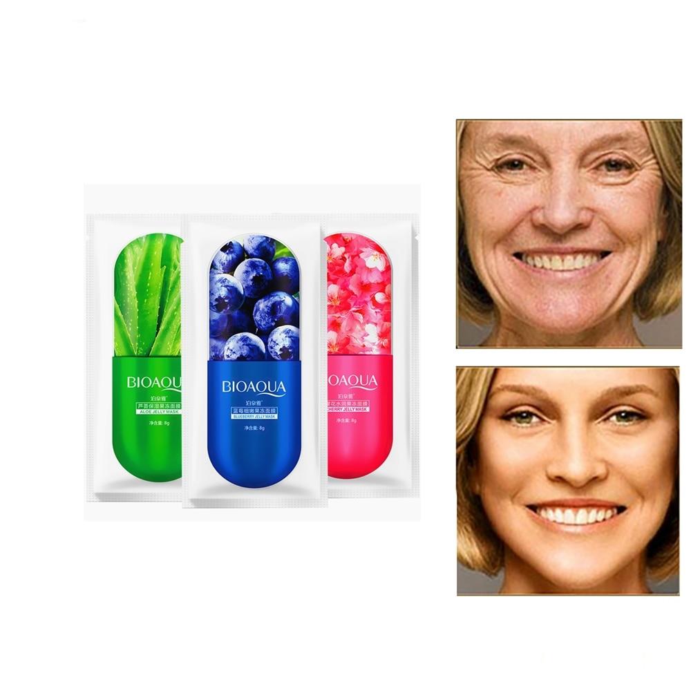 Shrink Pores Firming Hyaluronic Face Mask Natural Sakura  Essence Whitening Moisturizing Mask Facial Skin Care Korean Mask 1Pcs