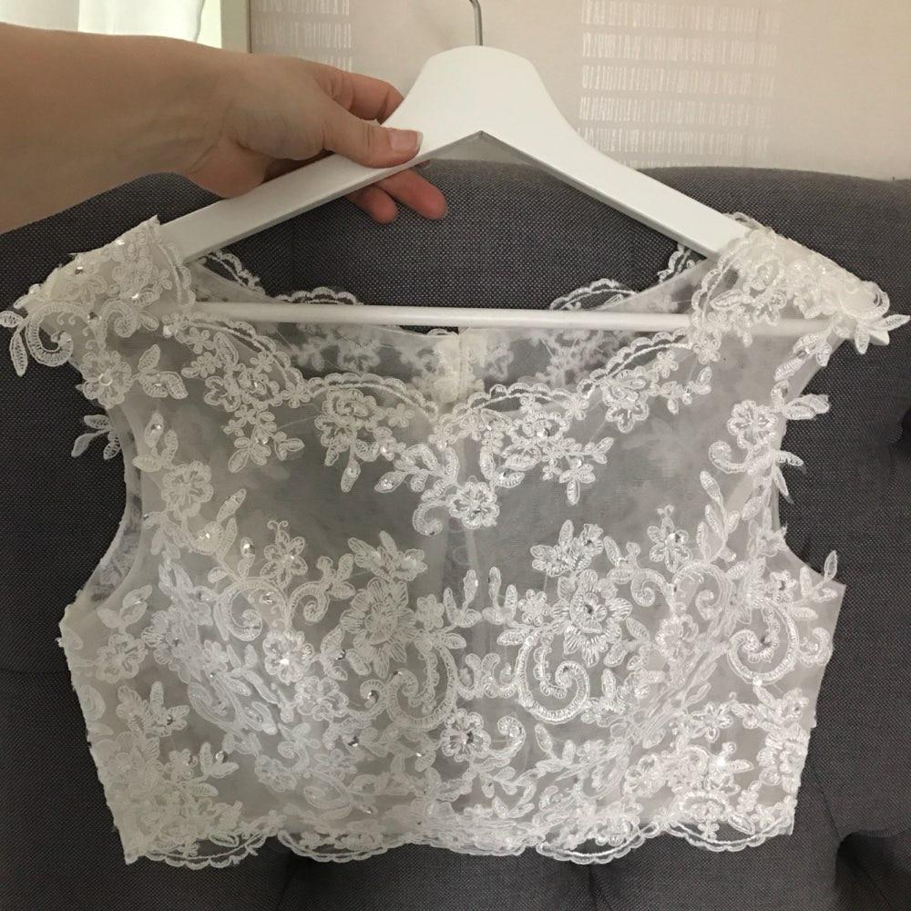 Appliques Sleeveless Wedding Bolero Scoop Bridal Wraps For Wedding Party Prom Crystal Beaded Bride Jacket Bolero Shrug