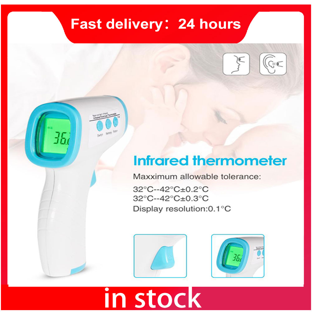 In Stock Fast Shipping Forehead Digital Baby Thermometer Infrared Fever Body Thermometer Non Contact Termometro Dropshipping