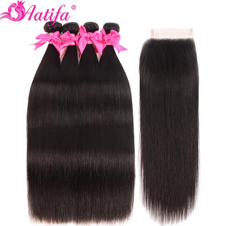 H355dfc8a7e17435e9a81e0bc6d159744p Aatifa Brazilian Straight Hair Bundles With Closure Human Hair Bundles With Closure Remy Bundles With Closure Hair Extension