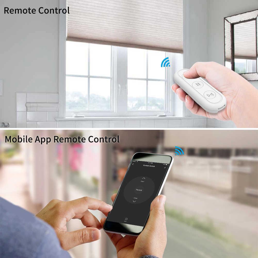 Tuya Smart Life Wi-Fi выключатель для слепых занавесок с пультом дистанционного управления для электрических жалюзи, Солнцезащитный Google Home, Amazon, Alexa, умный дом
