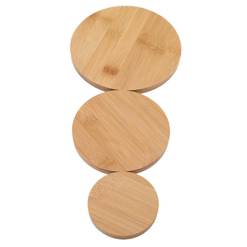 Okrągła drewniana misa taca soczysta podstawa rzemiosło dekoracyjne 3 rodzaj dekoracji ogrodu