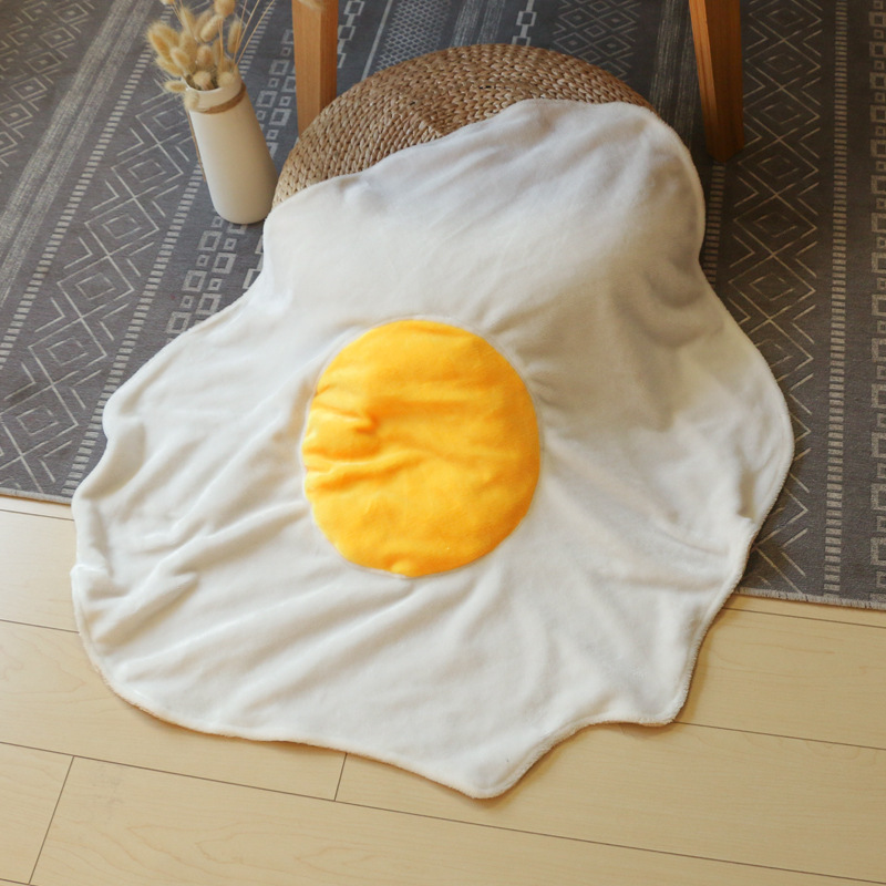 Simulated Egg Blanket Child Funny Food Costume Play Blanket Baby Blanket Office Nap Blanket Pet Rug Coral Fleece Fashion Blanket