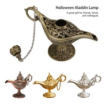 Rare Legend Brass Bronze Out Fairy Tale Aladdin Magic Genie Light Wishing Lamp Pot Collection Home