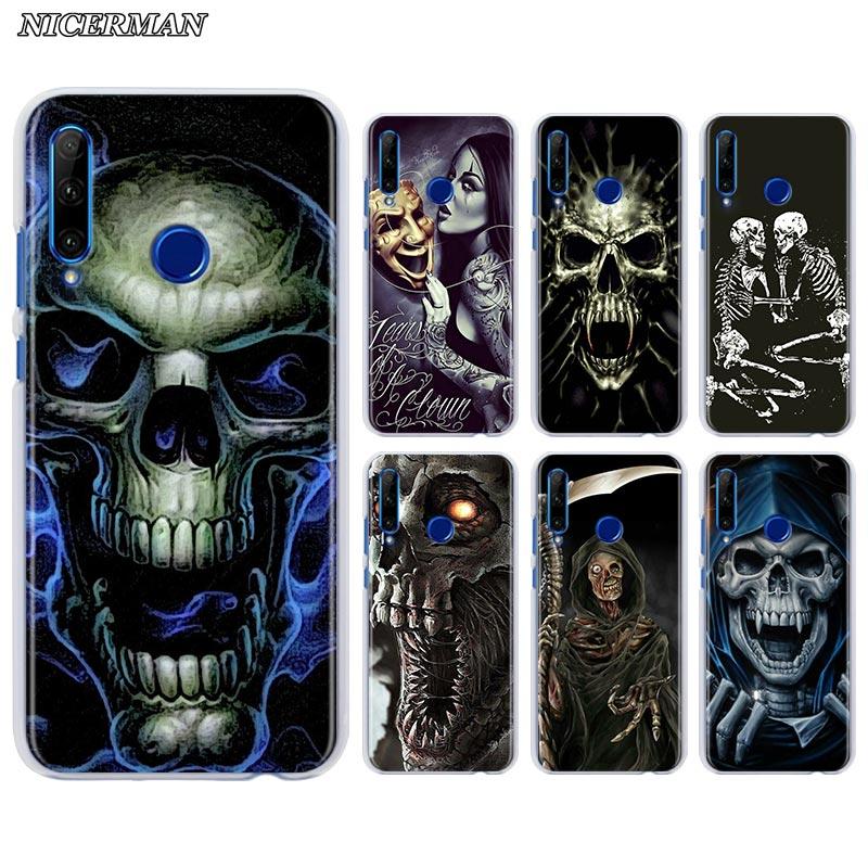 Grim Reaper Skull Phone Case for Huawei Y7 Y9 Prime Y5 Y6 2019 Y7p Y5p Y8p Y9s Honor 8A 9A 9S 9C 9X Lite 20e Hard Cover