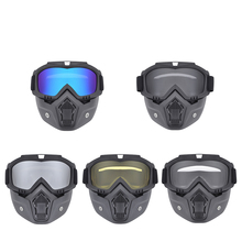 Hot Sales Modular Mask Detachable Goggles And Mouth Filter Perfect for Open Face Motorcycle Half Helmet