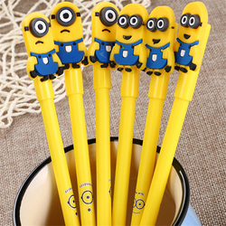 1pcs Creative lovely cartoon character neutral pen  black student stationery pencil wholesale