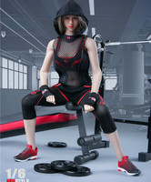 1/6 female /male Fitness Sport Clothes Set For 12 Female Figure body Doll no head no body FG054 /FG054 4 color Fire Girl Toys