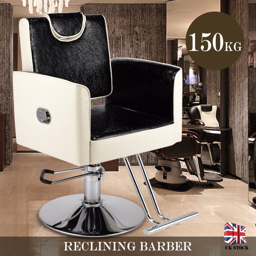 Chaises de coiffure en cuir PU chaise de barbier coiffure beauté cheveux coupe Salon meubles hydraulique inclinable chaise de barbier