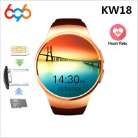 696 KW18 Smart Watch Men Bluetooth Smart Watches Heart Rate Pedometer SIM Smartwatch Answer Call TF Phone Watch for Android IOS