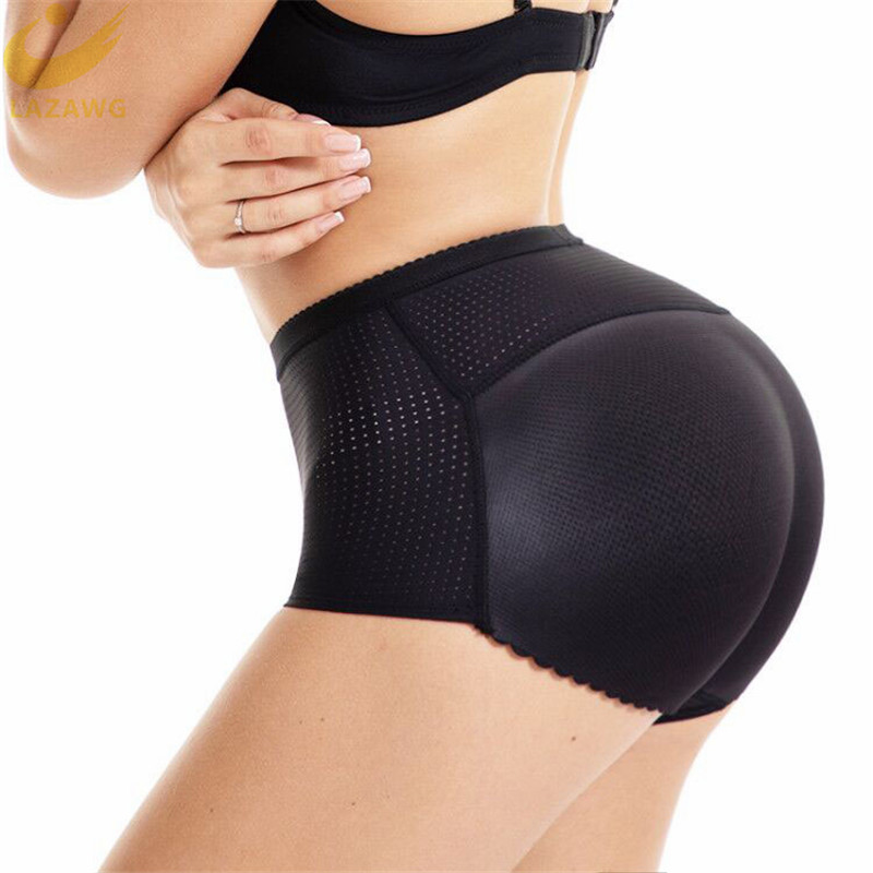 LAZAWG Women Control Panties With Pad Butt Lifter Hip Enhancer Mesh Breathable Underwear Push Up Big Ass Fake Butt Body Shaper
