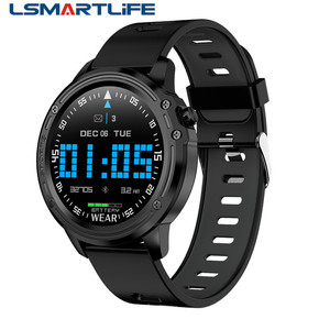 Image 1 - L8 ساعة ذكية IP68 مقاوم للماء Smartwatch موليتي الرياضة الرجال ECG PPG ضغط الدم سوار قياس معدل ضربات القلب
