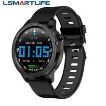L8 relógio inteligente ip68 à prova dip68 água smartwatch muliti sports men ecg ppg pressão arterial pulseira de freqüência cardíaca