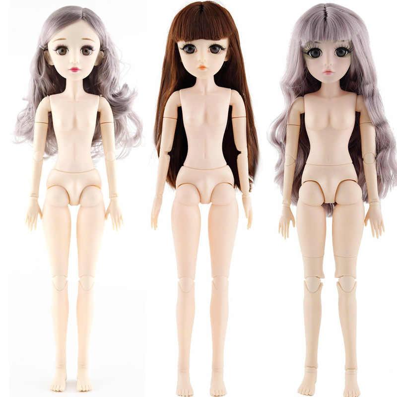 4pcs 1//12 Modelo de Muñecas Articuladas Desnudas con Pelo Largo para