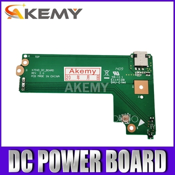 Akemy Original For Asus X75A X75V X75VD DC POWER BOARD X75VD_DC_BOARD REV:2.0 60-NC0DC1000 100% Tested Fast Ship akemy x556uv rev 3 1 x556uj rev 2 0 hdd board for asus a556u f556u k556u fl5900u r556u vm590u hard disk board 100