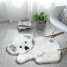 Simanfei Hairy Carpet Panda Koala Area Rug Fluffy Floor Mat Office Chair Soft Plush Bedroom Faux Fur Living Room