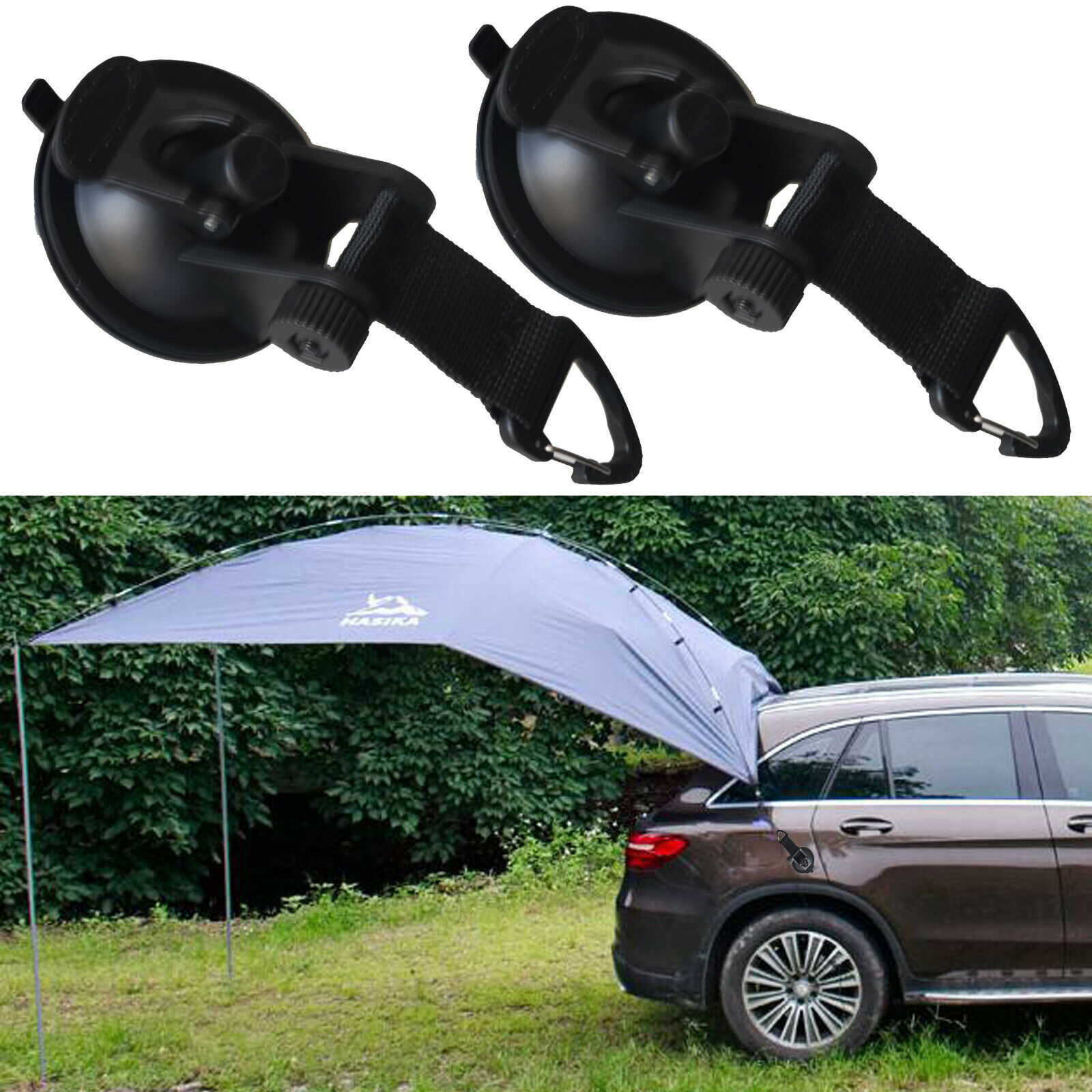 2pcs/lot Strong Suction Cup Anchor Securing Hook Tie Down,Camping Tarp as Car Side Awning