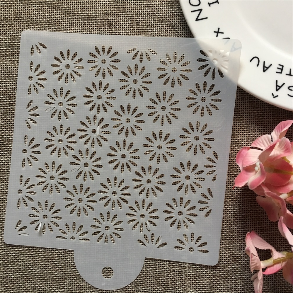 15cm Daisy Flower DIY Layering Stencils Wall Painting Scrapbook Coloring Embossing Album Decorative Card Template