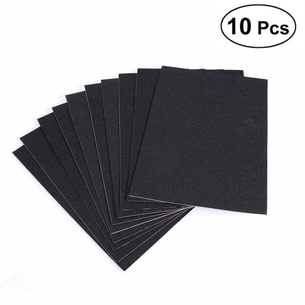 10 Sheets Black Furniture Pads Felt Sheets Fieltro Adhesivo Self-adhesive Felt Sheets Multi-purpose For Art And Craft Making