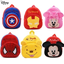 Plush-Backpack Figure School-Bag Spiderman Marvel Mickey-Mouse Cartoons-Pack The-Avengers