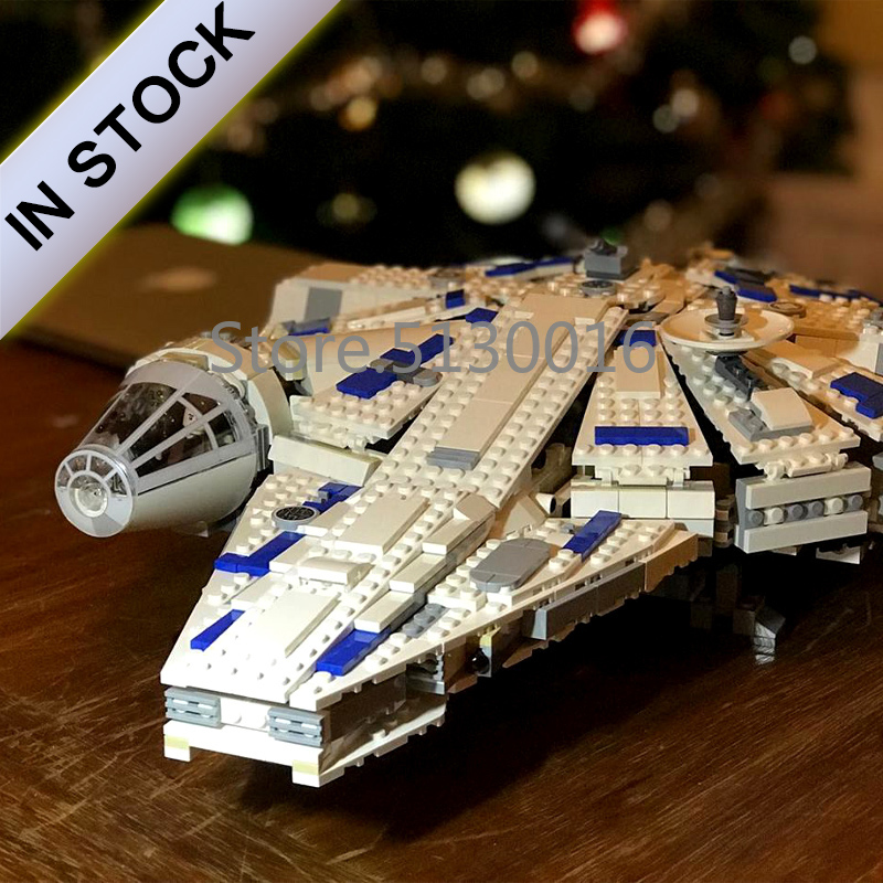 Force Awakens Millennium In stock 05142 Star Series Wars 75212 Building Blocks Compatible 75212 1482pcs Space ship Toys image
