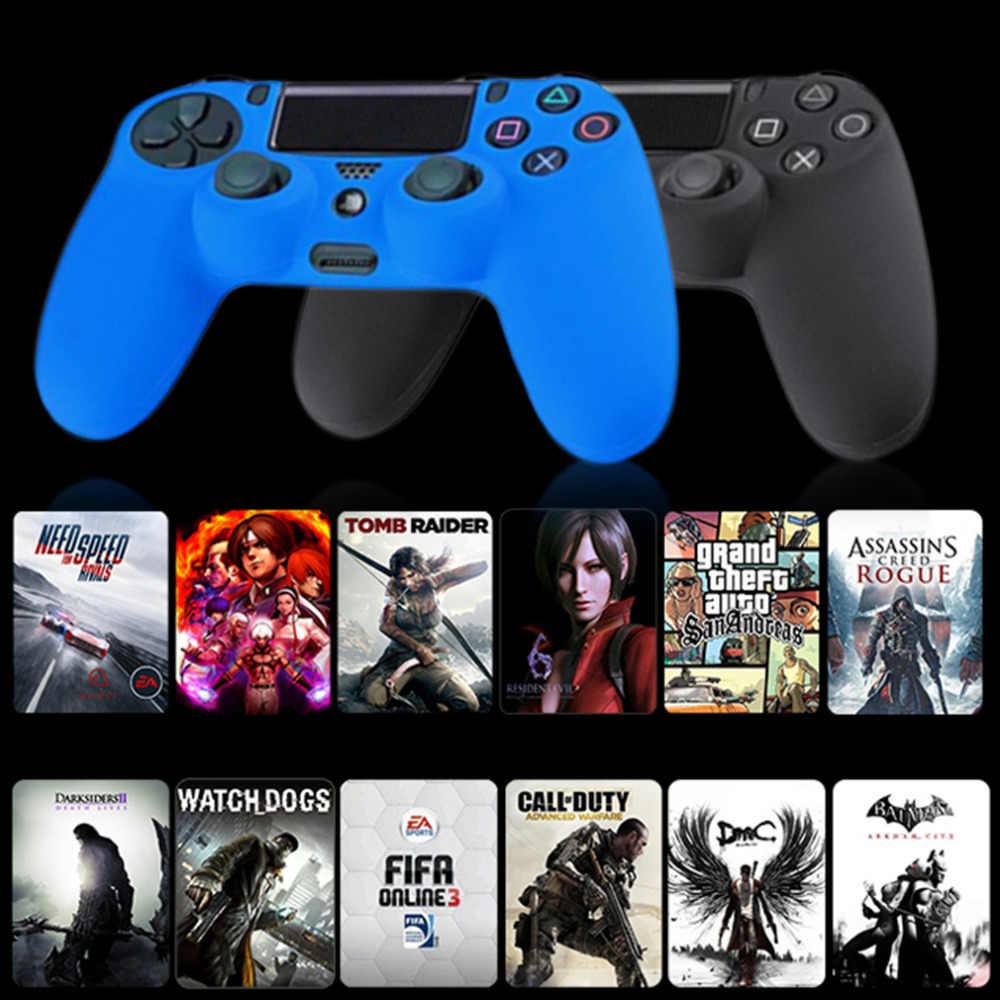 新加入ブラックブルーレッドソフトシリコンゴムゲル肌非スリップのための PS4 コントローラ