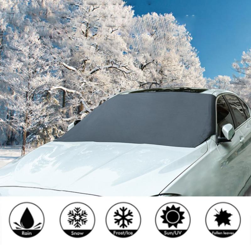 210*125 см автомобильный Магнитный солнцезащитный козырек для лобового стекла автомобиля Снежный солнцезащитный козырек водонепроницаемый защитный чехол для лобового стекла автомобиля