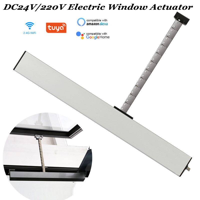 24V Tuya Chain Window Actuator Wifi Skylight Window Opener Automatic Greenhouse Window Open Close Smart Home Automation