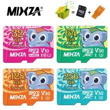 Mixza cartão de memória elefante, micro sd de 256gb 128gb 64gb u3 80 mb/s 32gb class10 UHS-1 cartão de memória flash microsd tf/sd