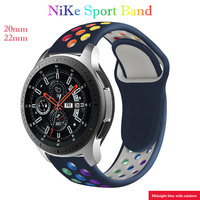Cinturino 20mm/22mm per Samsung Galaxy Watch 3/46mm/42mm/Active 2/Gear S3 Frontier bracciale in Silicone Huawei Watch GT/2/2e/Pro Band