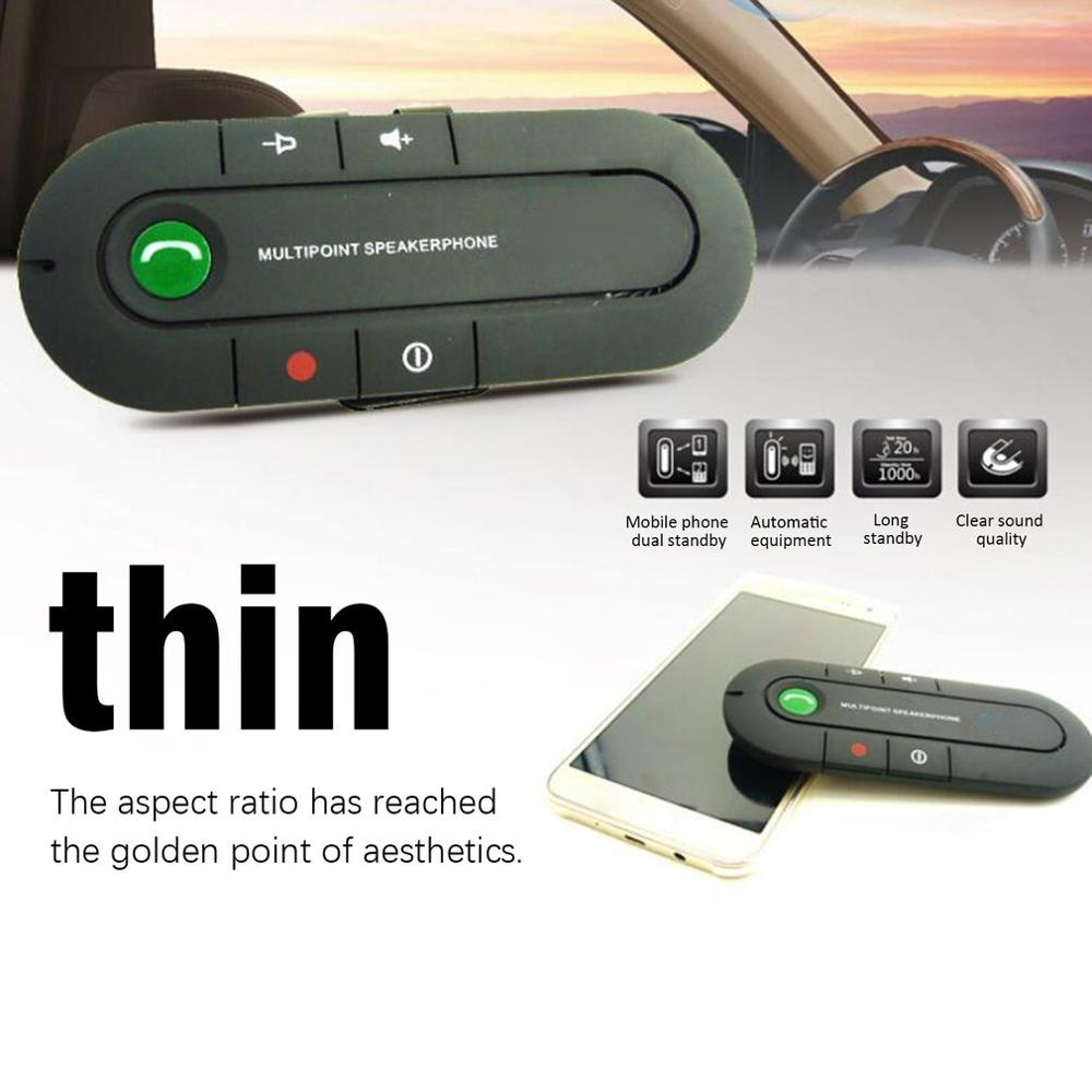 Sun Visor Car Wireless Hands-Free Mobile Phone Music Play Sun Block Car Mp3 Built-In Battery With Car Charger