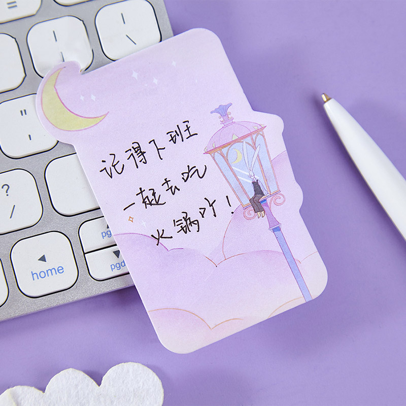30Pcs Cute Sticky Notes Note Paper Kawaii Fairy Tale Memo Pads For Kids DIY Stationery School Office Supplies