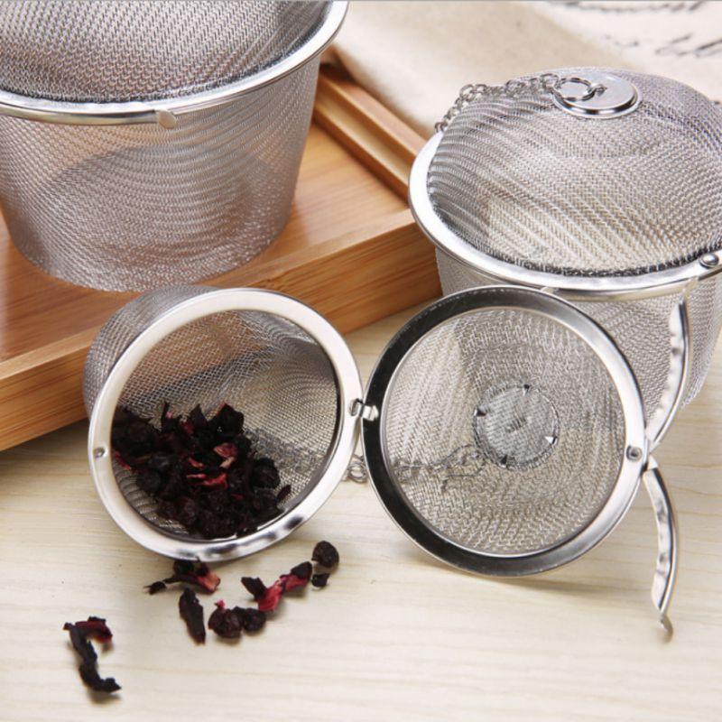 Stainless Steel Mesh Tea Ball Strainer Filters Tea Interval Diffuser For Loose Leaf Tea Herbal Spices Seasonings
