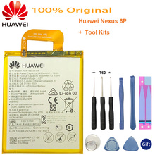 Hua Wei Original Phone Battery HB416683ECW for Huawei Nexus 6P H1511 H1512 3450mAh Replacement Free Tools