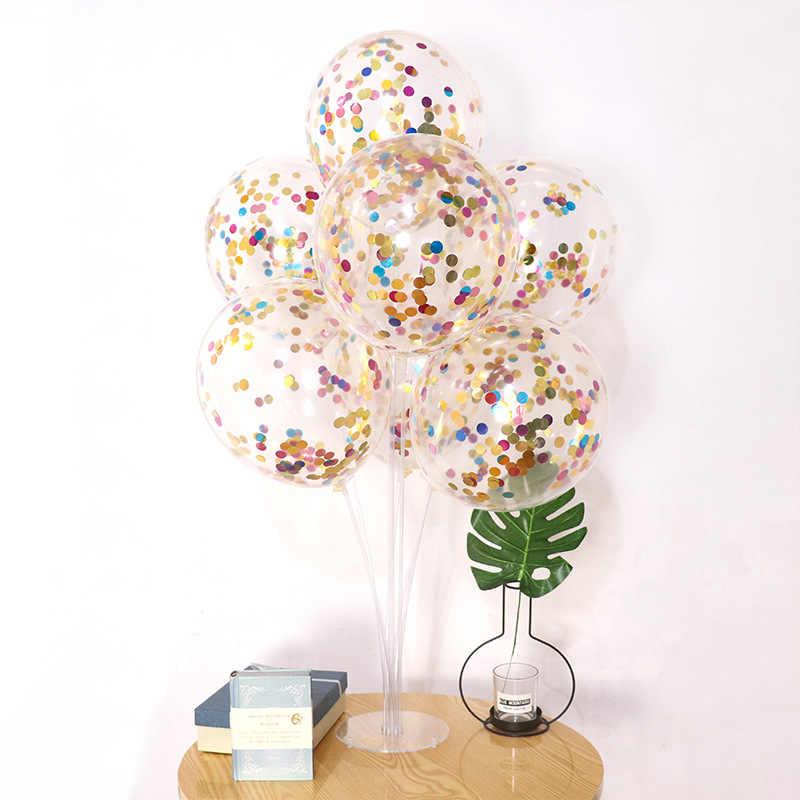 1Pcs 12 polegada Cor Balões Do Partido do Balão do Aniversário Bola Kid Criança Toy BallonsTransparent Balões Feliz Aniversário Chá de Bebê