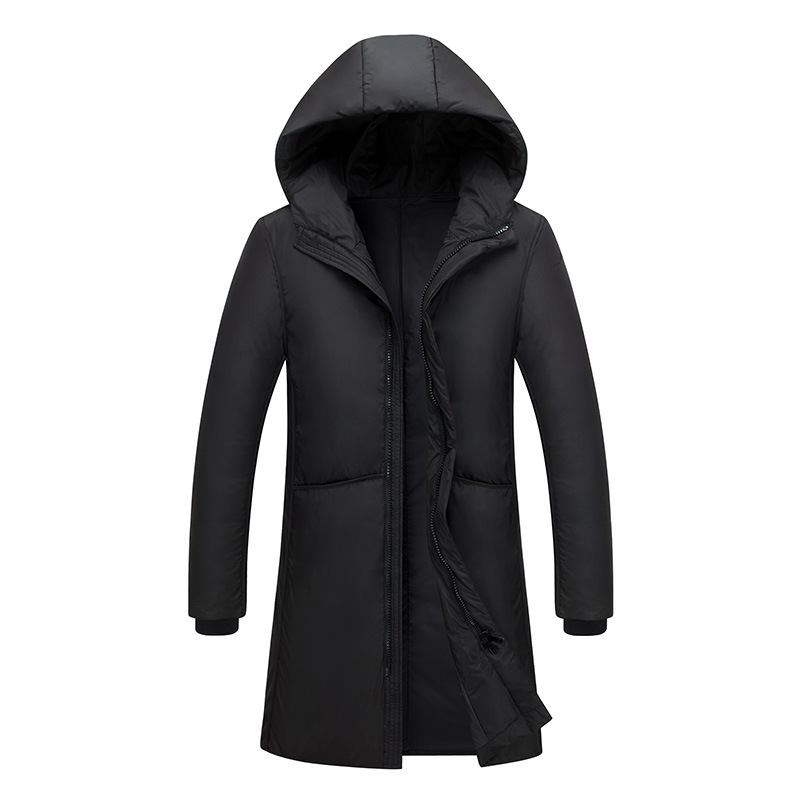 High Quality Down Jackets Winter Men Thick Warm Hooded Casual Coats Fashion White Duck Down Long Windbreaker Outerwear Clothing