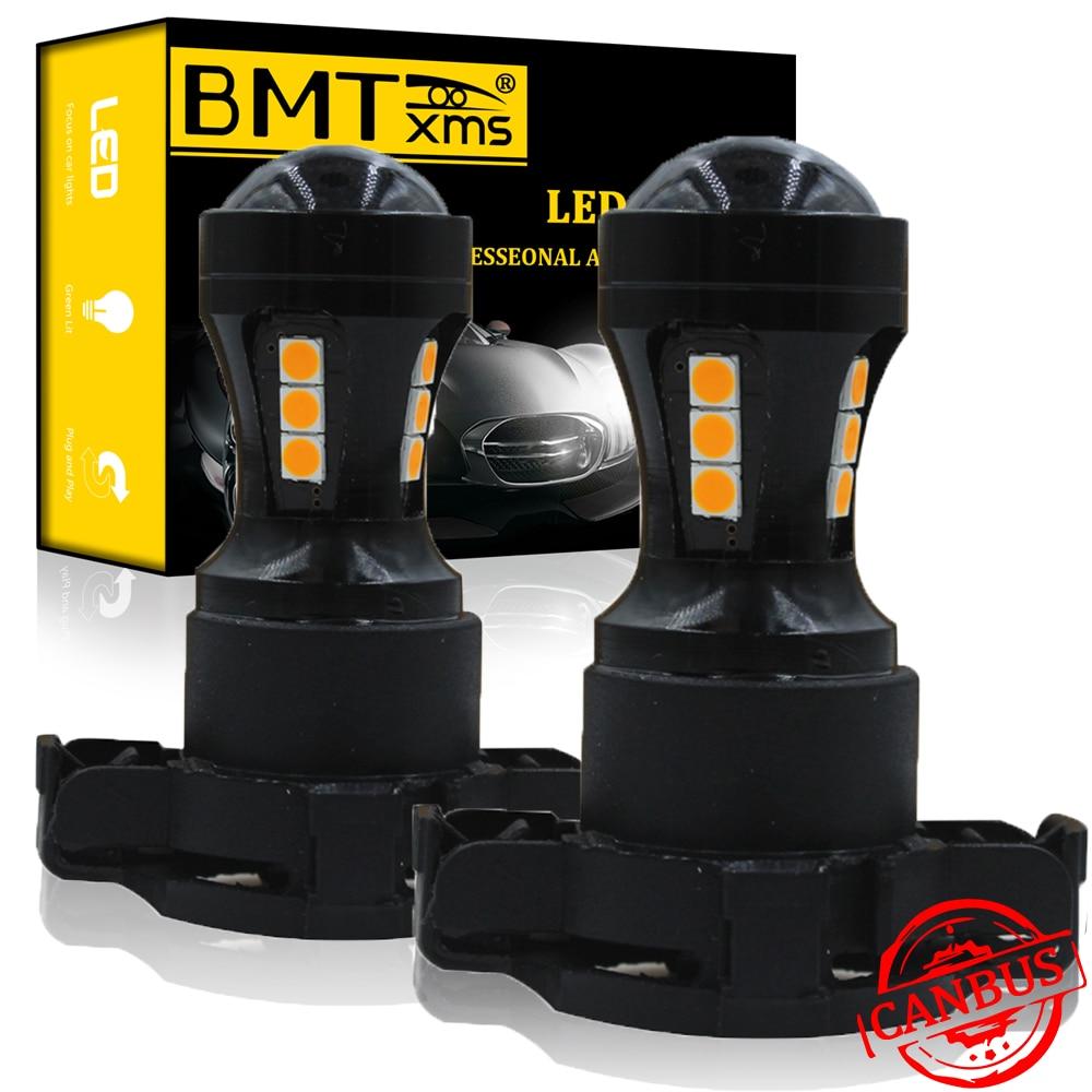 BMTxms coche PH24WY 5200 bombillas LED Canbus de señal de vuelta de las luces para BMW E90 E91 E92 E93 F10 F07 serie 5 E83 F25 X3 E70 X5 E71 X6 Z4