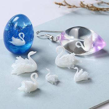 3 sztuk partia 3D Swan biżuteria żywica UV DIY Craft paznokci Handmade biżuteria z żywicy przezroczysty papier wypełniacz materiał tanie i dobre opinie Mold Formy Silikonowe 3D Stereo Swan