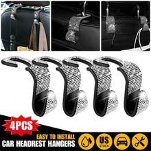 Bag Cloth-Holder Car-Accessories Rhinestone Bling Backseat Hanger 4pcs Clip Hook Purse