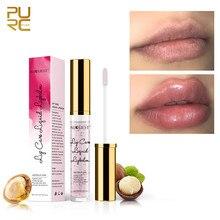 Cor-de-rosa lábios plumper maquiagem longa duração grande brilho labial hidratante volume gordo brilhante sexy vitamina e óleo mineral batom