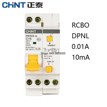 CHINT CHNT NBHLE-40 10MA 0.01A RCBO 1P+N 230V Residual current Circuit breaker with over current Leakage protection NBHLE