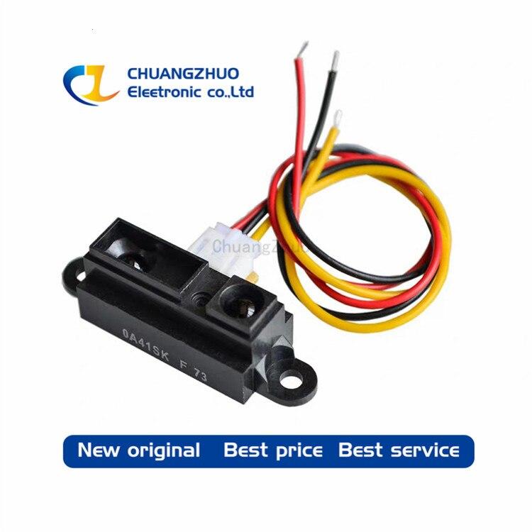 New Original GP2Y0A41SK0F Including Wires SENSOR OPTICAL 4-30CM ANALOG