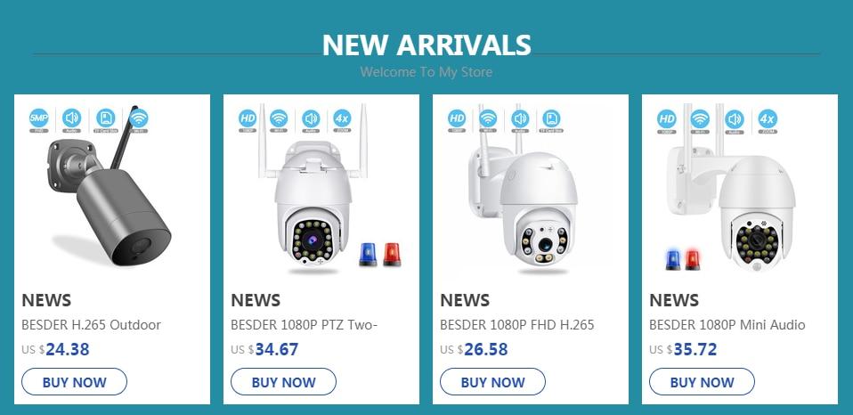 H3560c859f528435497973988e445fbddR BESDER Home Security IP Camera Wireless Smart WiFi Camera WI-FI Audio Record Surveillance Baby Monitor HD Mini CCTV Camera iCSee