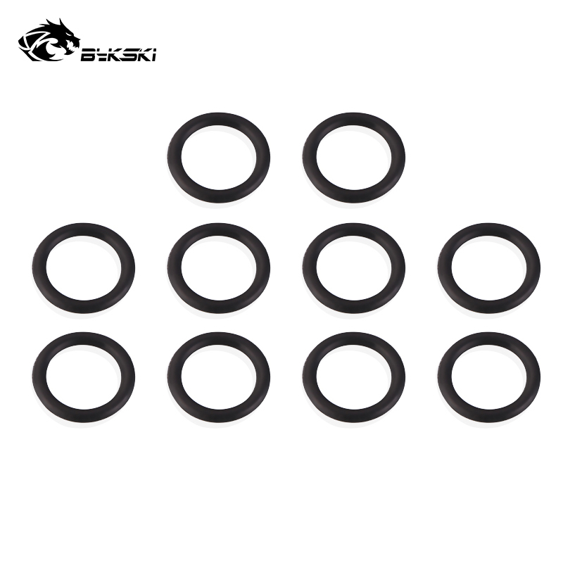 BYKSKI 10pcs/set Sealing Ring G'1/4 Fitting Rubber Band Ring Accessories Ring